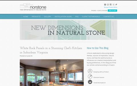 Screenshot of Blog norstoneusa.com - Norstone Blog: Natural Stone Design Ideas and Projects - captured June 17, 2017