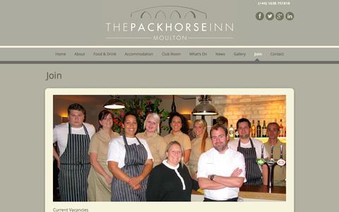 Screenshot of Signup Page thepackhorseinn.com - Join | The Packhorse Inn - captured Oct. 6, 2014