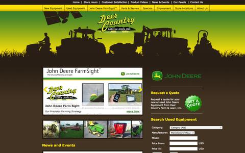 Screenshot of Home Page deercountry.net - Deer Country Farm & Lawn, Inc. - Home - captured Jan. 24, 2015
