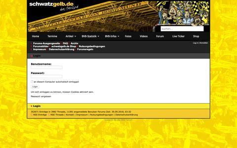 Screenshot of Login Page bvb-forum.de - schwatzgelb.de - Forum - Login - captured Sept. 30, 2018
