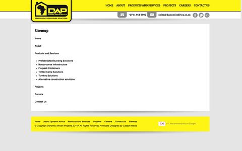 Screenshot of Site Map Page dynamicafrica.co.za - Sitemap | Dynamic Africa - captured Oct. 5, 2014