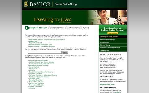 Baylor University || Give to Baylor