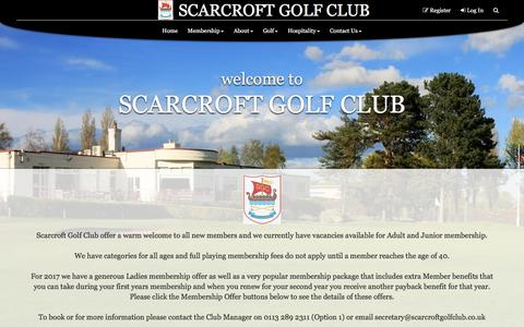 Screenshot of Home Page scarcroftgolfclub.co.uk - SCARCROFT GOLF CLUB - captured May 25, 2017