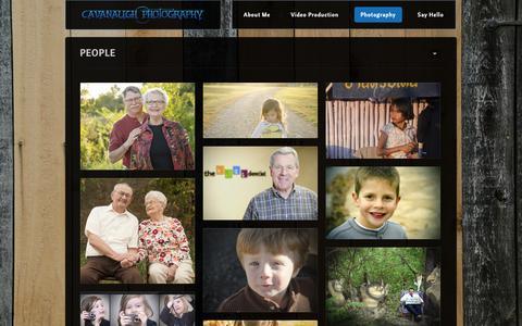 Screenshot of Team Page ryancavanaugh.com - People | Cavanaugh Photography - captured Sept. 27, 2018
