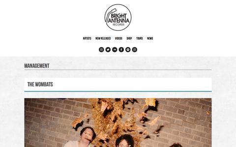 Screenshot of Team Page brightantenna.com - Management — Bright Antenna Records - captured Jan. 7, 2018