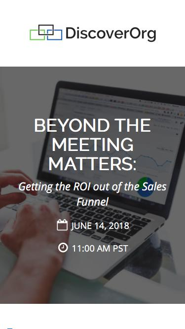 Beyond the Meeting Matters | DiscoverOrg Webinar
