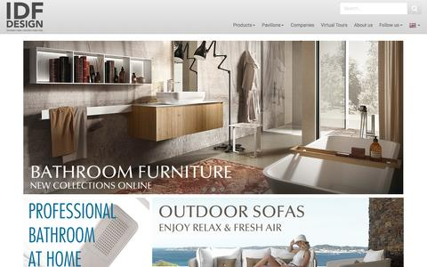 Screenshot of Home Page idfdesign.com - IDFdesign: Furniture, chairs, tables, cabinets - captured Aug. 25, 2016