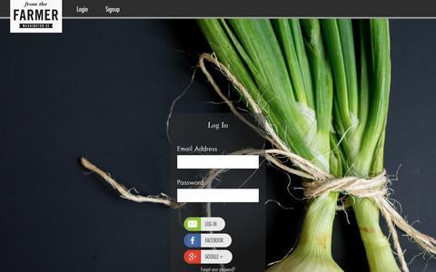 Screenshot of Login Page fromthefarmerdc.com - From the Farmer - captured Jan. 24, 2016