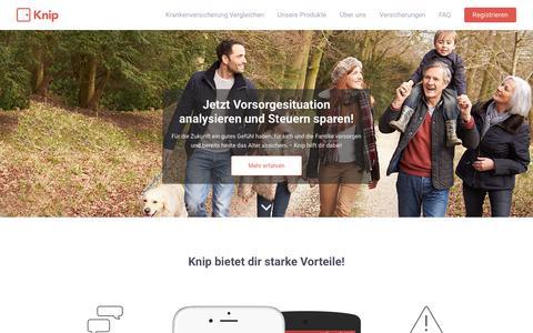 Screenshot of Home Page knip.ch - Knip   Digitaler Versicherungsbroker - captured Oct. 15, 2018