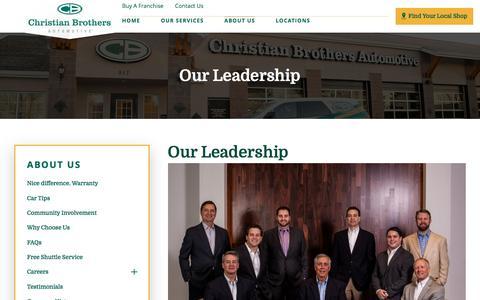 Screenshot of Team Page cbac.com - Our Leadership | Auto Repair Service - captured April 19, 2017