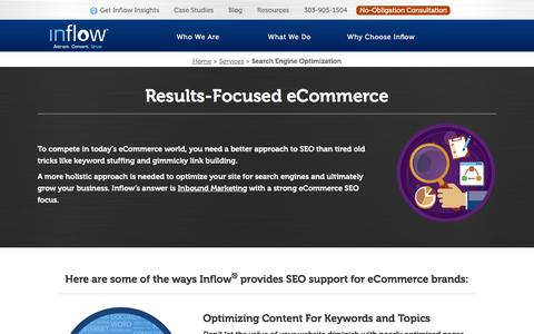 Screenshot of goinflow.com - Inflow - eCommerce SEO Agency - captured March 20, 2016