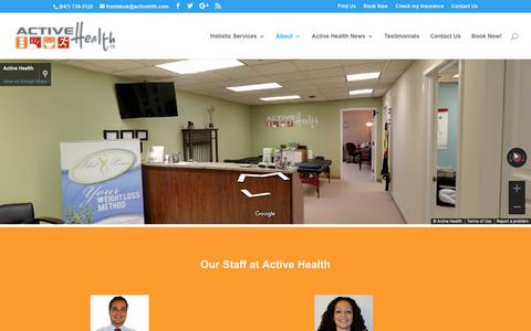 Screenshot of About Page activehlth.com - Active Health - Holistic, Chiropractor, Acupuncture, Nutrition - captured Oct. 3, 2018