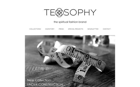 Screenshot of Home Page teosophy.net - TEOSOPHY - captured Sept. 30, 2014