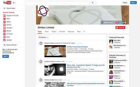 Screenshot of YouTube Page youtube.com - Simboc Limited  - YouTube - captured Oct. 26, 2014