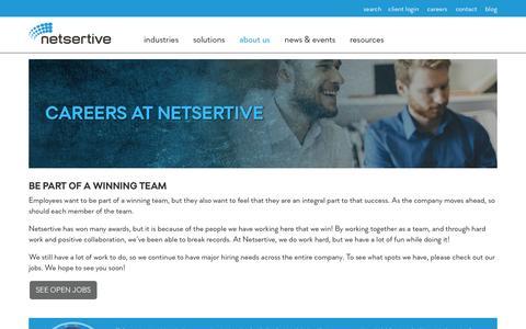 Screenshot of Jobs Page netsertive.com - Careers - Netsertive - captured Aug. 17, 2016