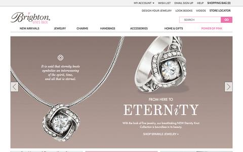 Screenshot of Home Page brighton.com - Women's Handbags, Jewelry, Charms for Bracelets & More | Brighton Collectibles - captured Oct. 2, 2015