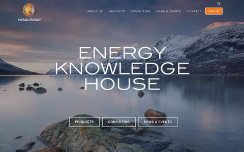 Screenshot of Home Page rystadenergy.com - Rystad Energy - Your Energy Knowledge House - captured Sept. 21, 2018