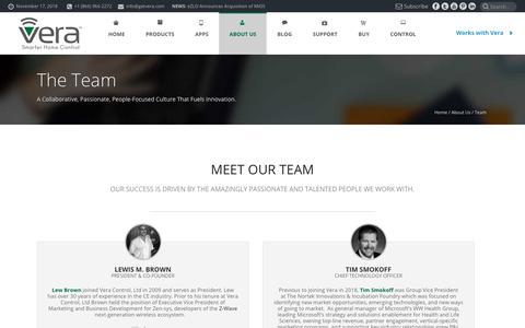 Screenshot of Team Page getvera.com - Meet Our Team ▾ Vera™ - captured Nov. 17, 2018