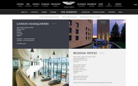 Screenshot of Locations Page astonmartin.com - Locations - captured Sept. 18, 2014