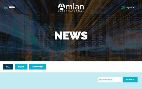 Screenshot of Press Page amlan.com - News - Amlan International - captured Dec. 18, 2018