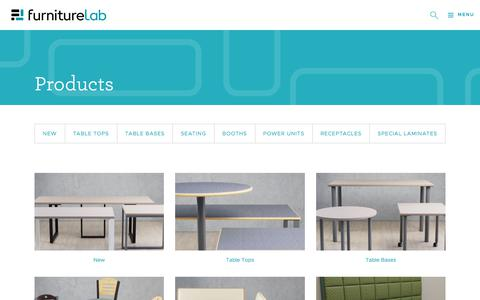 Screenshot of Products Page furniturelab.com - Products | Furniture Lab - captured Sept. 4, 2018