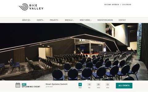 Screenshot of Home Page flandersbikevalley.be - Flanders' Bike Valley - captured Oct. 10, 2018