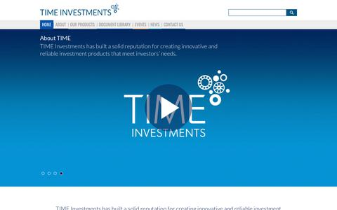 Screenshot of Home Page time-investments.com - TIME Investments - captured Nov. 4, 2017
