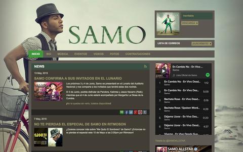 Screenshot of Home Page samooficial.com - Home - The Official Samo Site - captured Oct. 1, 2015