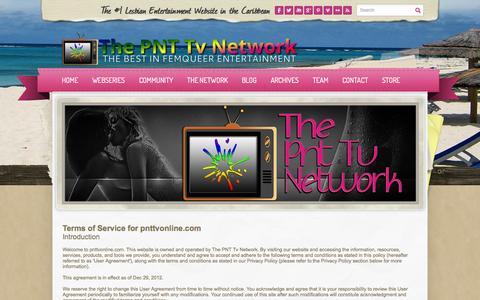 Screenshot of Terms Page pnttvonline.com - Terms of Service - PNT Tv - captured Oct. 6, 2014