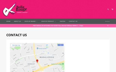 Screenshot of Contact Page bellarouge.co.za - Contact Us – Bella Rouge SA - captured Aug. 1, 2018