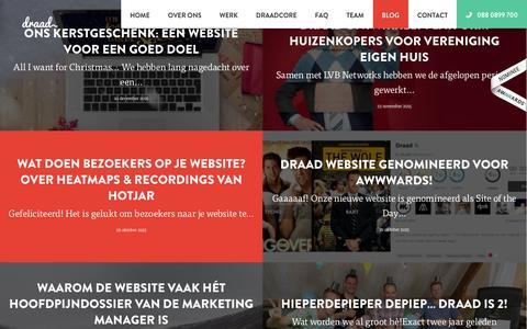 Screenshot of Blog draad.nu - Blog   Blijf op de hoogte van Draad! - captured Jan. 7, 2016