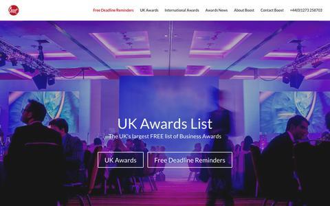 Screenshot of Home Page awards-list.co.uk - Free List of Business Awards - UK Awards List - National Business Awards - captured Dec. 6, 2018