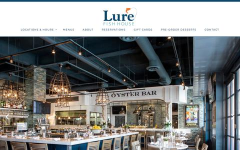 Screenshot of Home Page lurefishhouse.com - Lure Fish House - captured July 24, 2018