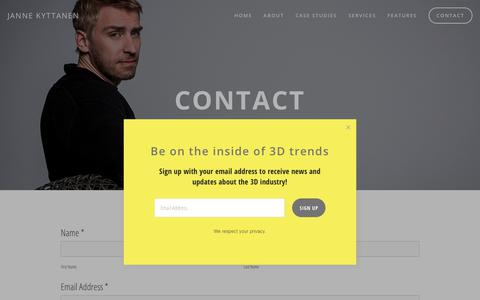 Screenshot of Contact Page jannekyttanen.com - Contact — Janne Kyttanen - captured Nov. 25, 2018