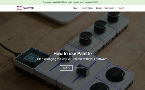 Screenshot of FAQ Page palettegear.com - Palette - How it works - captured March 19, 2016