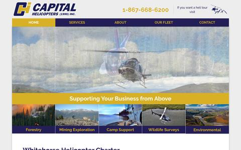 Screenshot of Home Page capitalhelicopters.com - Capital Helicopters (1995) Inc. | Supporting Your Business from Above - captured Oct. 20, 2016