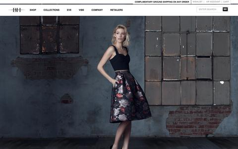 Screenshot of Home Page blackhalo.com - Official Black Halo Clothes Store Online - captured Aug. 10, 2015