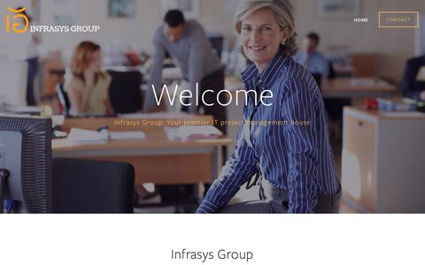 Screenshot of Home Page igcalgary.com - Infrasys Group is a Calgary IT Integrator that provides Cloud, Managed, Infrastructure and Relocation Services for small mid-market owner-managed businesses - captured Feb. 10, 2016