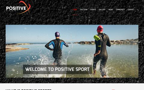 Screenshot of Home Page positivesport.co.uk - Positive Sport - Achievement is Everything - captured Oct. 6, 2015