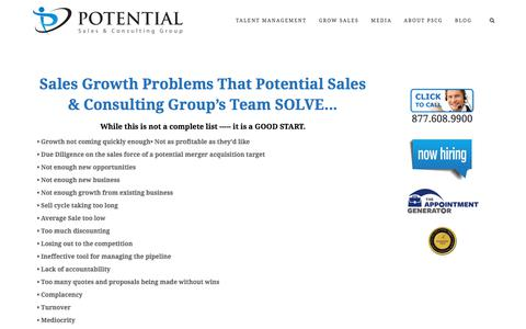 Sales Development Problems We Solve – Potential Sales and Consulting Group
