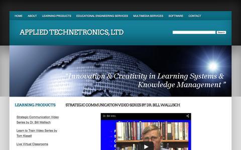 Screenshot of Products Page appliedtechnetronics.com - Applied Technetronics, Ltd - Products - captured Feb. 6, 2016