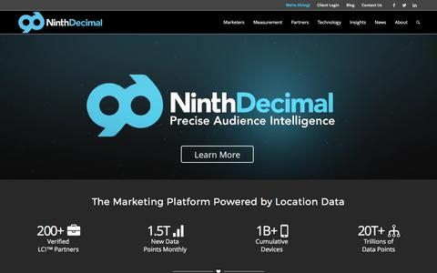 Home | NinthDecimal - The Marketing Platform Powered by Location Data