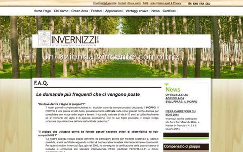 Screenshot of FAQ Page invernizzi-spa.com - F.A.Q. | Invernizzi S.p.A. - captured Sept. 30, 2014