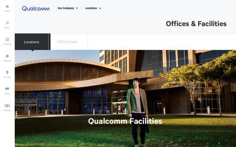 Screenshot of Locations Page qualcomm.com - Locations | Qualcomm - captured Oct. 1, 2018
