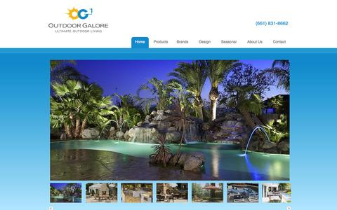 Screenshot of Home Page outdoor-galore.com - Outdoor Galore - Patio Furniture Bakersfield CA - captured Oct. 7, 2014