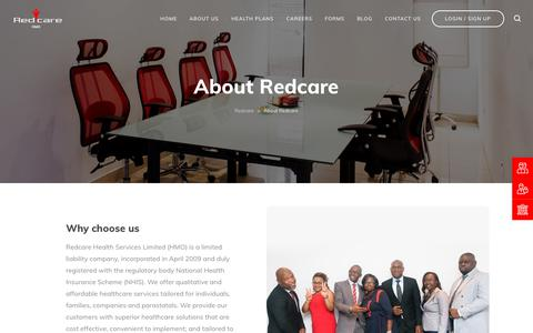 Screenshot of About Page redcarehmo.com - About Us - Redcare Health Service Management | HMO - captured Nov. 15, 2018