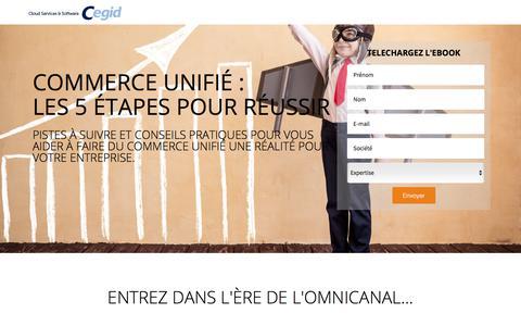 Screenshot of Landing Page cegid.com - ebook Commerce Unifié : les 5 étapes pour réussir - Cegid - captured Oct. 4, 2017