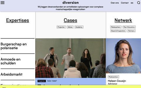 Screenshot of Home Page diversion.nl - Diversion - captured Nov. 6, 2018