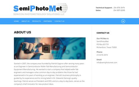 Screenshot of About Page semiphotomet.com - About Us – SemiPhotoMet - captured Oct. 19, 2017