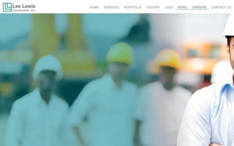 Screenshot of Jobs Page leelewis.com - Careers – Lee Lewis - captured Sept. 27, 2018
